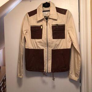 **Michael Kors mixed media leather jacket**